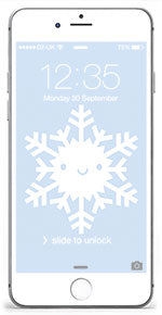 Snowflake iPhone wallpaper