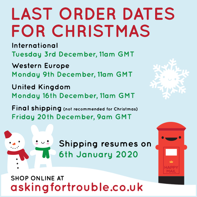 LAST ORDER DATES FOR CHRISTMAS 2019