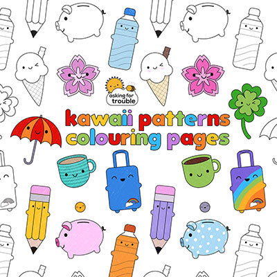kawaii colouring sheets