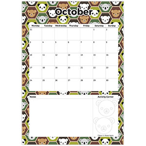 October 2016 printable planner