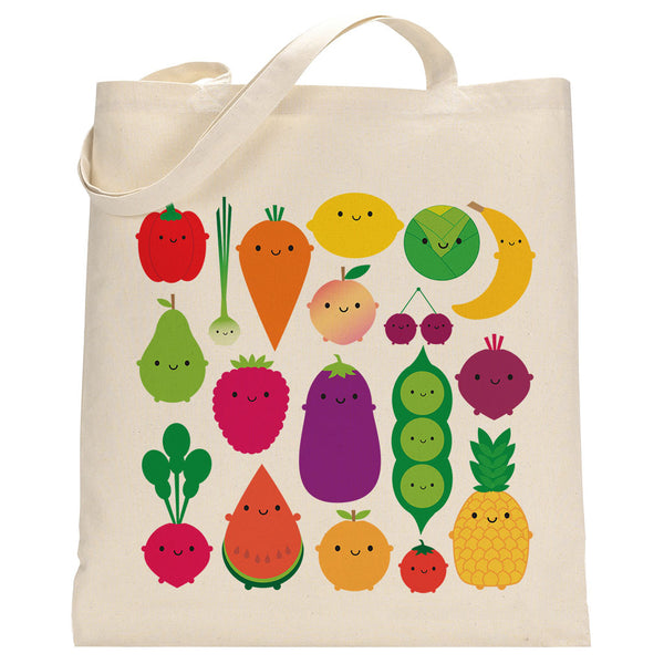 5 A Day Kawaii Fruit & Vegetables Shopper Bag