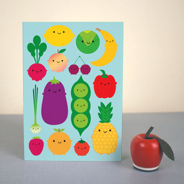 5 A Day Fruit & Vegetables Card