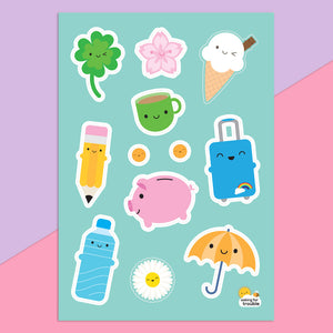 Kawaii Life Journaling Sticker Sheets