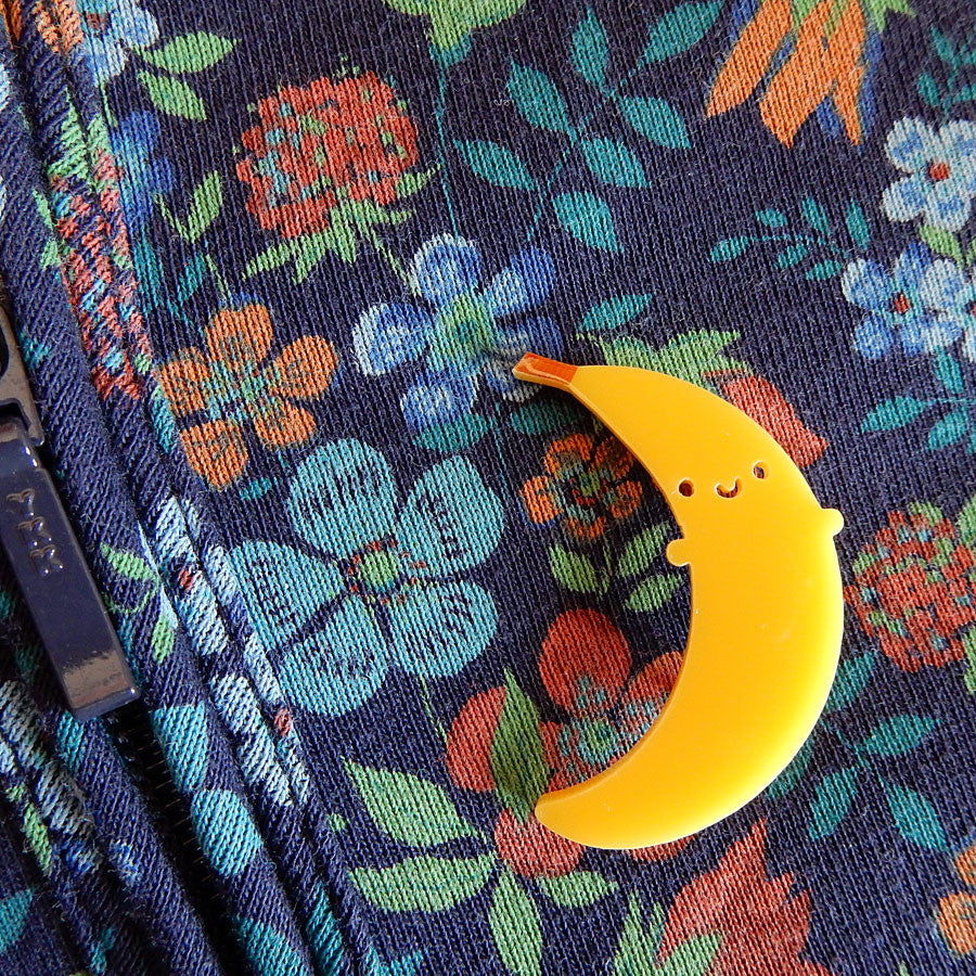 Happy Banana Kawaii Acrylic Brooch