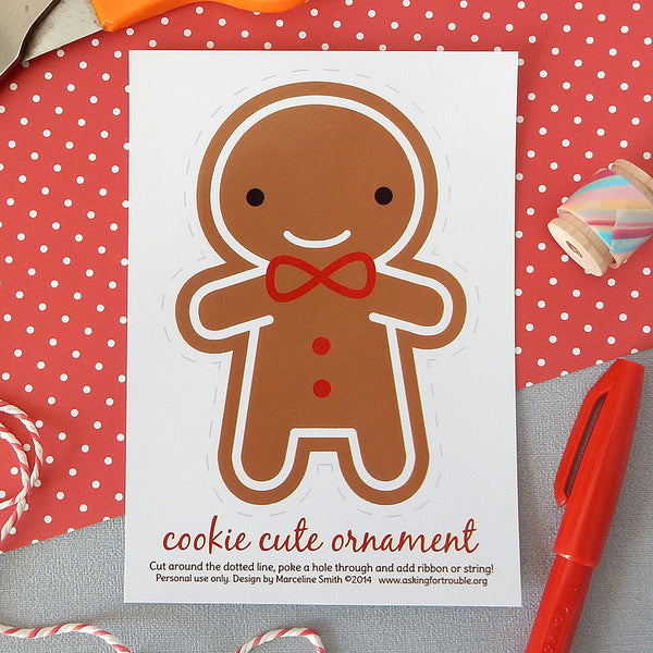 Cookie Cute Gingerbread Man Ornament Postcards
