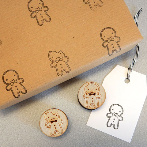 Cookie Cute Gingerbread Men Polymer Stamp Set