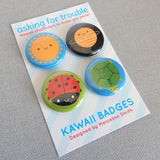 Happy Nature Kawaii Badges