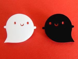 Evil Little Ghost Acrylic Brooch - Limited Edition!