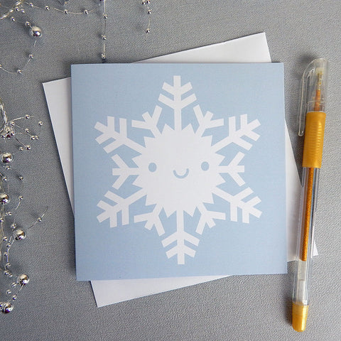 Sweet Snowflake Kawaii Christmas Card