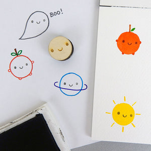 Smiley Face Kawaii Polymer Stamp