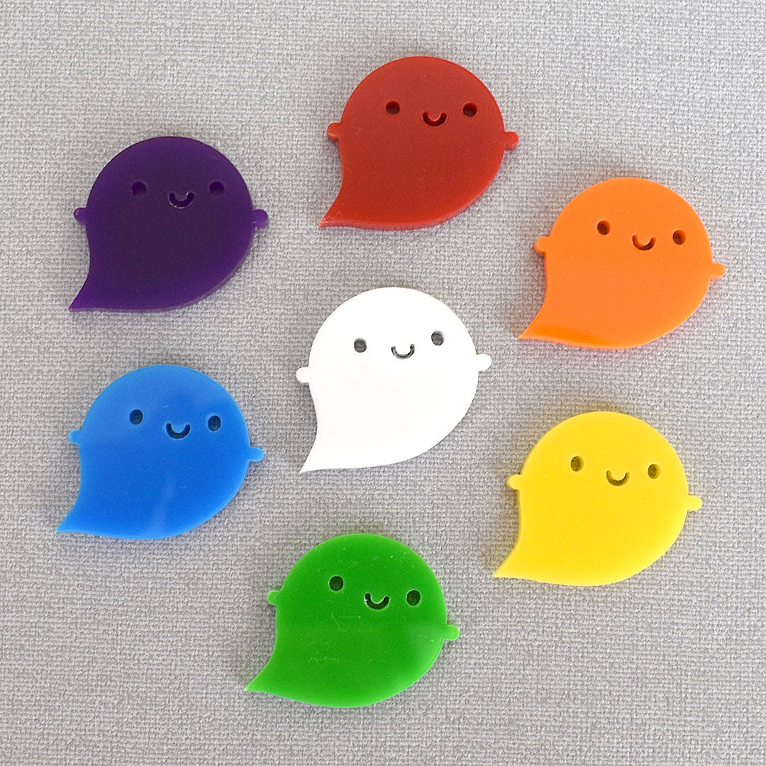 Rainbow Ghost Brooches - Limited Edition