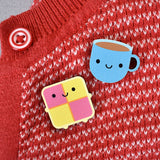 Cup of Tea Kawaii Wooden Pin