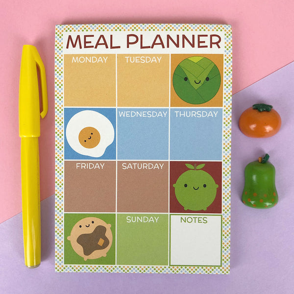 Kawaii Meal Planner Pad