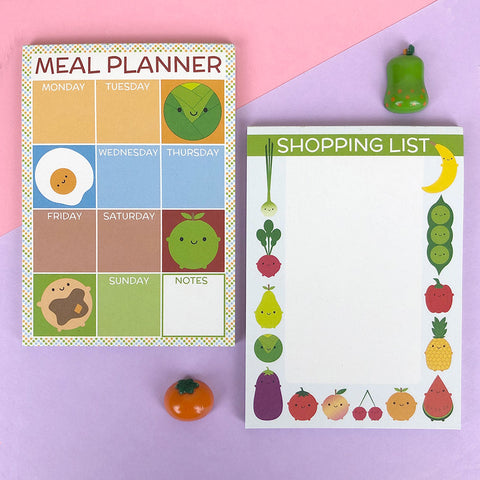 Kawaii Meal Planner & Shopping List Set