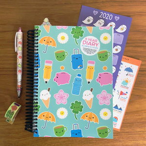 Kawaii Life 5 Year Diary 2020-2024 - Available POD