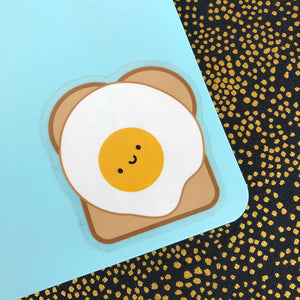 Egg on Toast Kawaii Vinyl Stickers