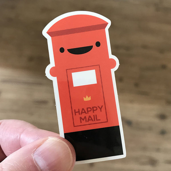 Happy Mail Kawaii Postbox Stickers