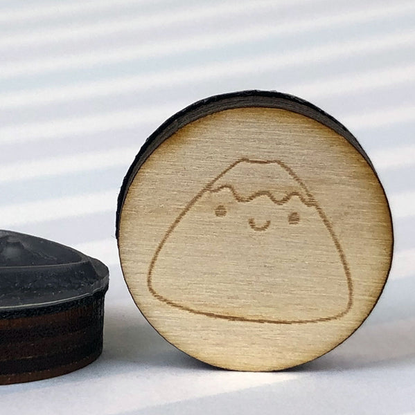 Kawaii Japan Mt Fuji & Onigiri Polymer Stamps