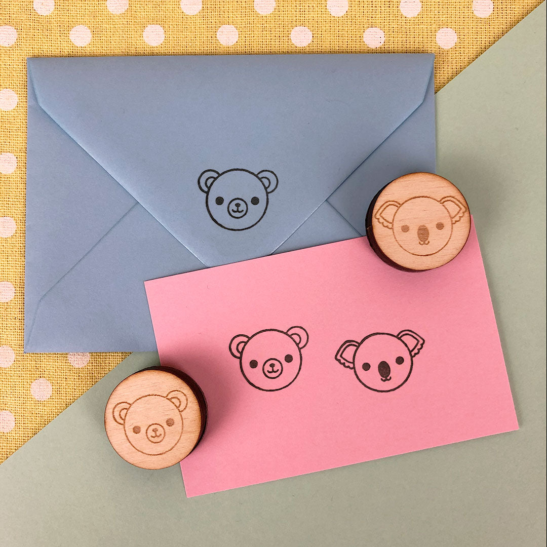 Bear & Koala Kawaii Polymer Stamps