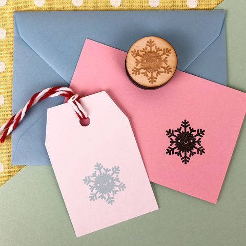 Winter Snowflake Kawaii Polymer Stamp