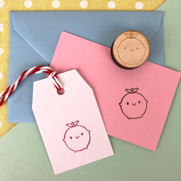 Happy Apple Kawaii Polymer Stamp