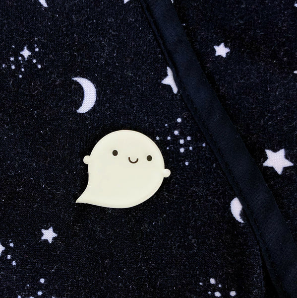 Glow in the Dark Ghost Brooches