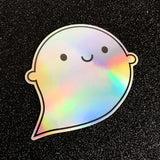 Holographic Rainbow Ghost Stickers