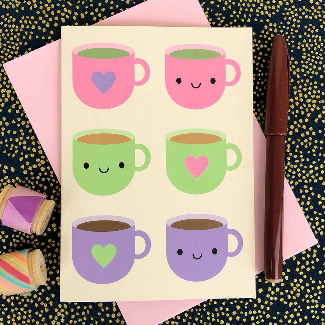 Tea Time Kawaii Card