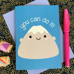 You Can Do It! Kawaii Motivational Card