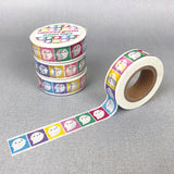 Rainbow Ghosts Kawaii Washi Tape