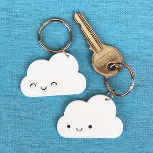 Happy Clouds Kawaii Acrylic Keyrings