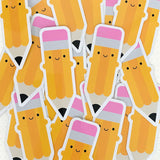 Happy Pencil Kawaii Stickers