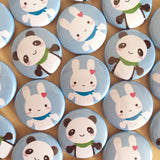 Bunny & Panda Badge Set