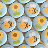 Sunflower & Bee Badge Set