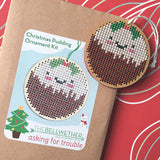 Christmas Pudding Cross Stitch Pattern & Kit