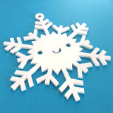 Snowflake Kawaii Christmas Ornaments