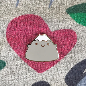 Mt Fuji Hugs Kawaii Japan Enamel Pin