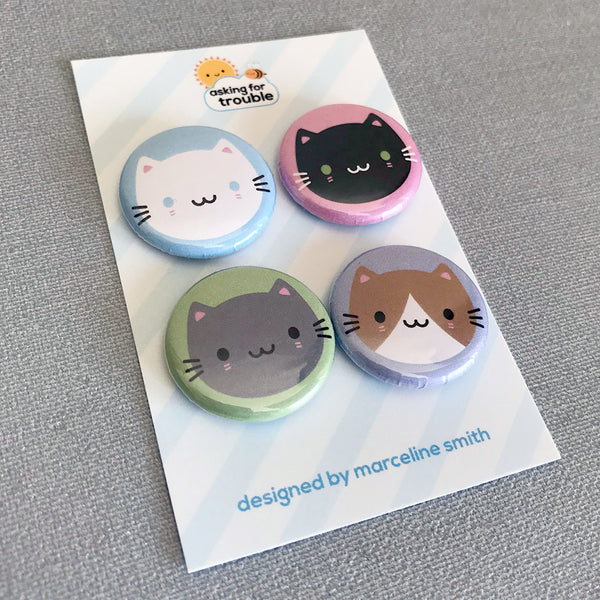 Cute Cats Kawaii Badges