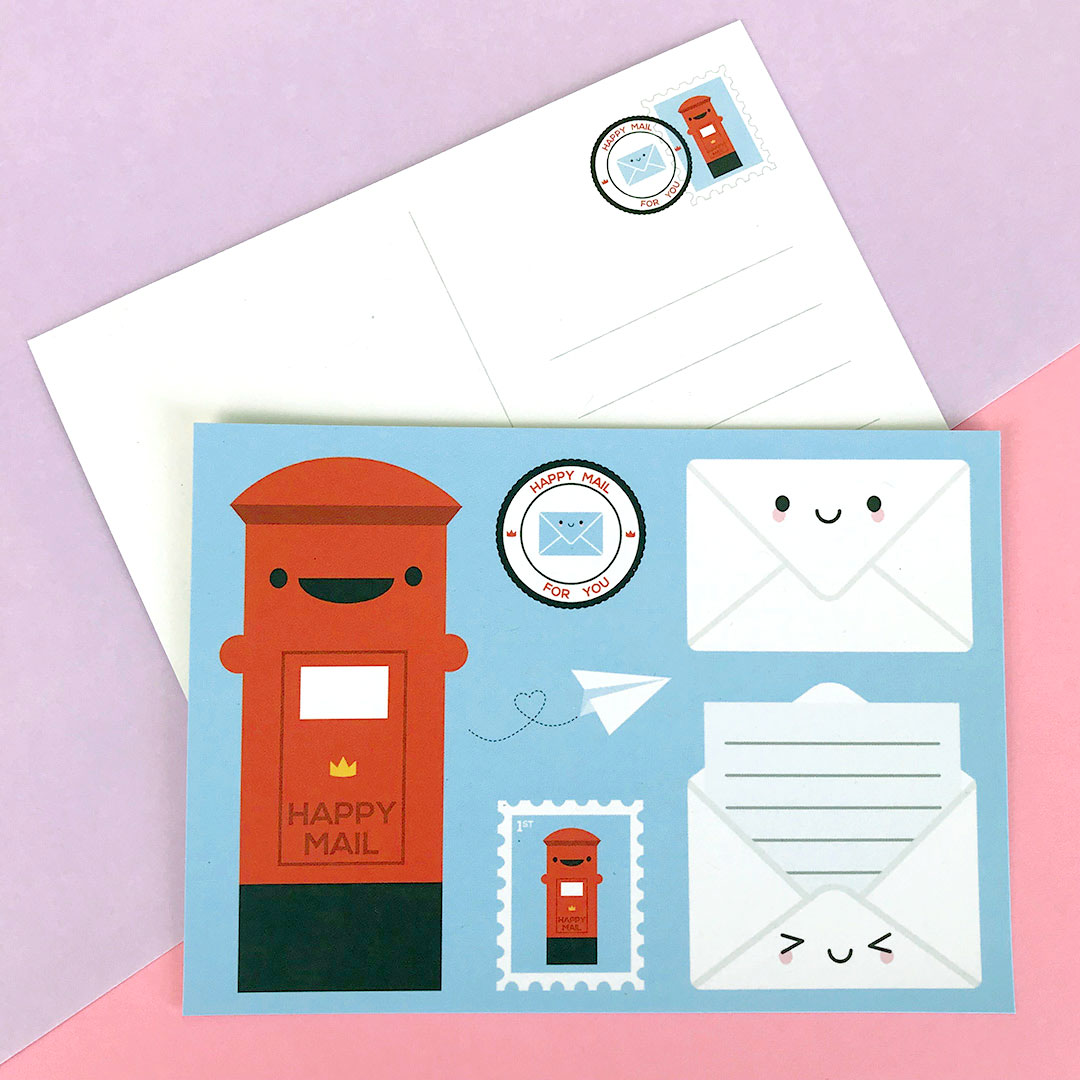 Happy Mail Kawaii Postcards