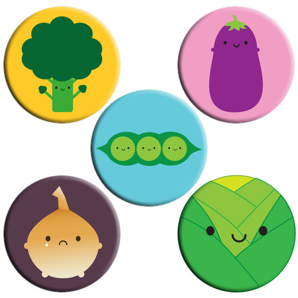 5 A Day Fruit & Vegetables Badges