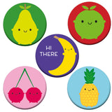 5 A Day Fruit & Vegetables Badge Set