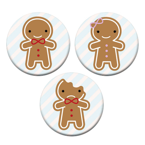 Cookie Cute Gingerbread Men Badge Set