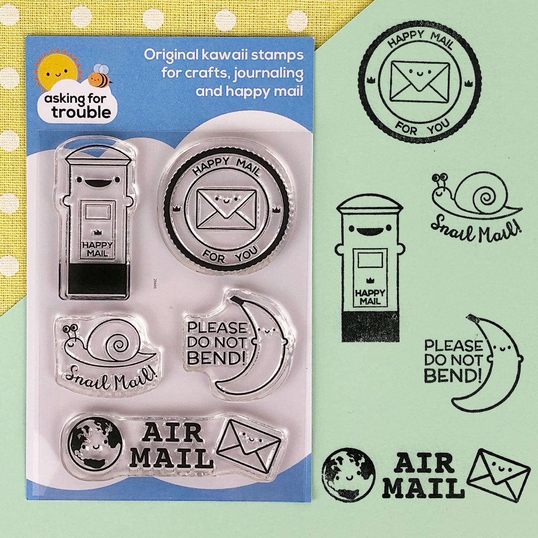 Happy Mail Clear Stamps Sheet