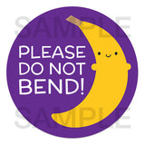 Do Not Bend Banana Stickers