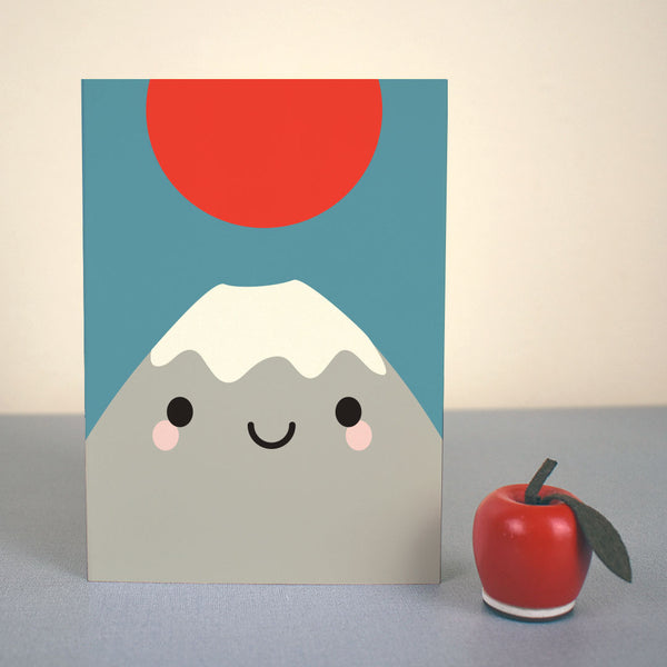 Kawaii Japan Mt Fuji Card
