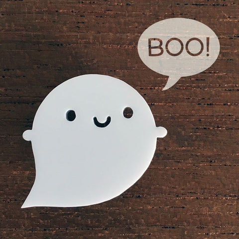 Little Ghost Acrylic Brooch