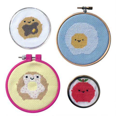 Kawaii Breakfast Food Cross Stitch Patterns