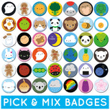Pick & Mix Kawaii Badges - Any 1, 2, 4 or 10