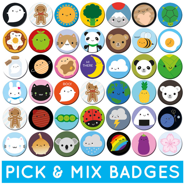 Pick & Mix Kawaii Badges - Any 2, 4 or 10