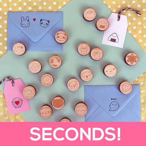 SECONDS - Kawaii Polymer Stamps